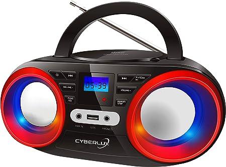 Tragbarer Cd Player Led Discolichter Boombox Cd Elektronik