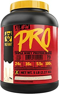 Mutant Pro – Triple Whey Protein Powder Supplement – Time-Released for Enhanced Amino Acid Absorption – Decadent Gourmet F...