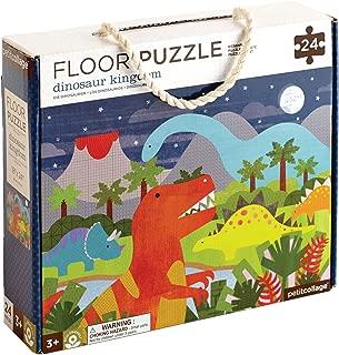 Petit Collage Floor Puzzle, Dinosaur Kingdom, 24 Pieces