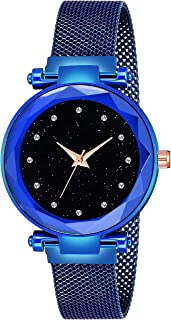 Kiarvi Gallery New Arrival Royal Blue Dial with Trending Magnetic Blue Metal Strap