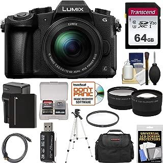 Panasonic Lumix DMC-G85 4K Wi-Fi Digital Camera & 12-60mm Lens with 64GB Card + Battery & Charger + Case + Tripod + Filter + Tele & Wide Lens Kit