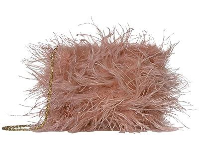 Loeffler Randall Zelda Feather Baguette Crossbody (Buff Pink) Handbags