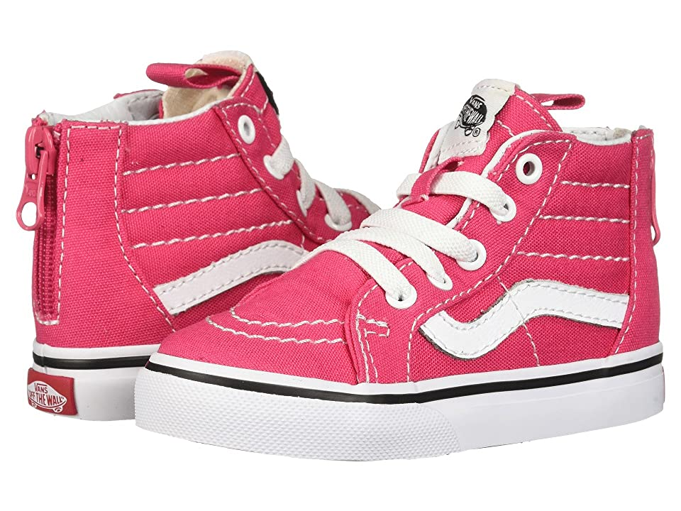 Vans Kids Sk8-Hi Zip (Toddler) (Azalea/True White) Girls Shoes
