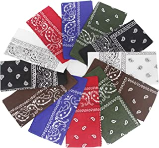 Sodynee Women's 12PC Pack Headbands Bandanas, Assorted Colors, One Size