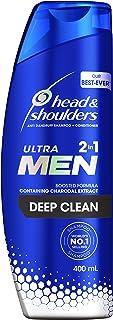 Head & Shoulders Ultra Men 2in1 Deep Clean Anti Dandruff Shampoo + Conditioner 400ml, 400 ml