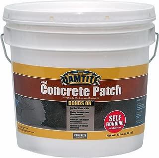 Damtite 04012 Gray Bonds-On Vinyl Concrete Patch, 12 lb. Pail
