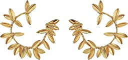 Dot Leaf Hoop P Earrings