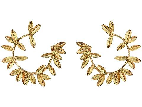 Oscar de la Renta Dot Leaf Hoop P Earrings