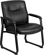 Flash Furniture HERCULES Series Big & Tall 500 lb. Rated Black Leather Executive Side..