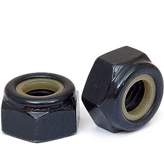 (10) M3 Nylon Insert Hex Lock Nuts, Metric Coarse DIN 985 Black Oxide and Oil Class 8 Steel - MonsterBolts (10, M3 x 0.50)