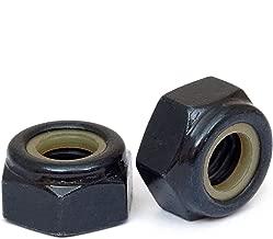 (10) M4 Nylon Insert Hex Lock Nuts, Metric Coarse DIN 985 Black Oxide and Oil Class 8 Steel - MonsterBolts (10, M4 x 0.70)