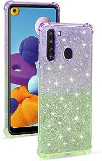 جراب Mylne Soft Glitter لهاتف Samsung Galaxy A11/M11، جراب نحيف مضاد للصدمات 2 في 1 من السيليكون المرن واقٍ لهاتف لامع للف...