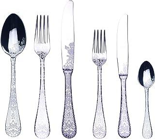 Mepra 1026CB22036 Flatware Serving Set, [36 Piece, Metallic Finish, Dishwasher Safe Cutlery