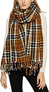 Women's Tartan Plaid Blanket Scarf Winter Checked Wrap Shawl