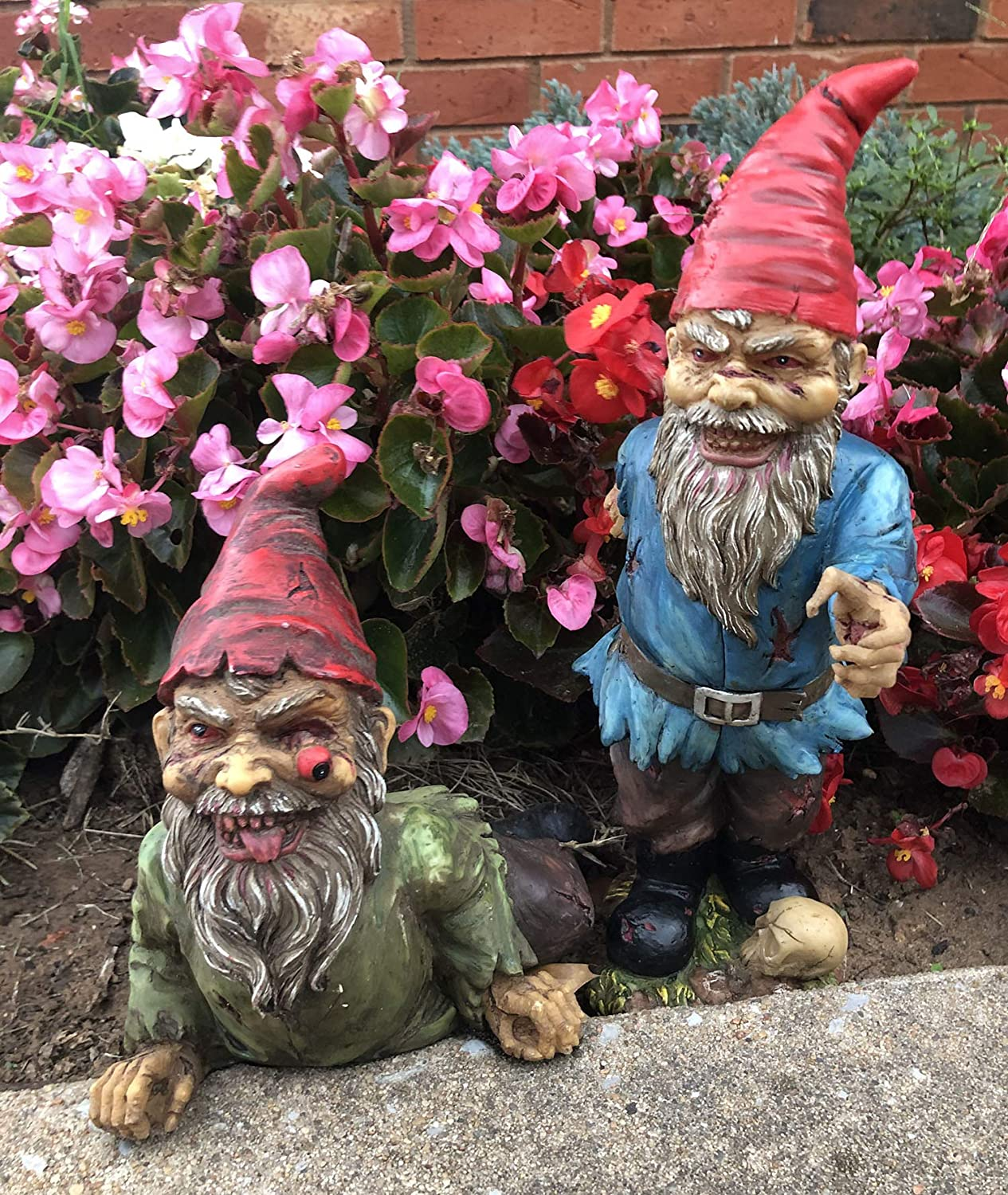 Ebros Walking Dead Zombie Gnomes On Belly Year-end annual account Standing and Crawling Popular brand