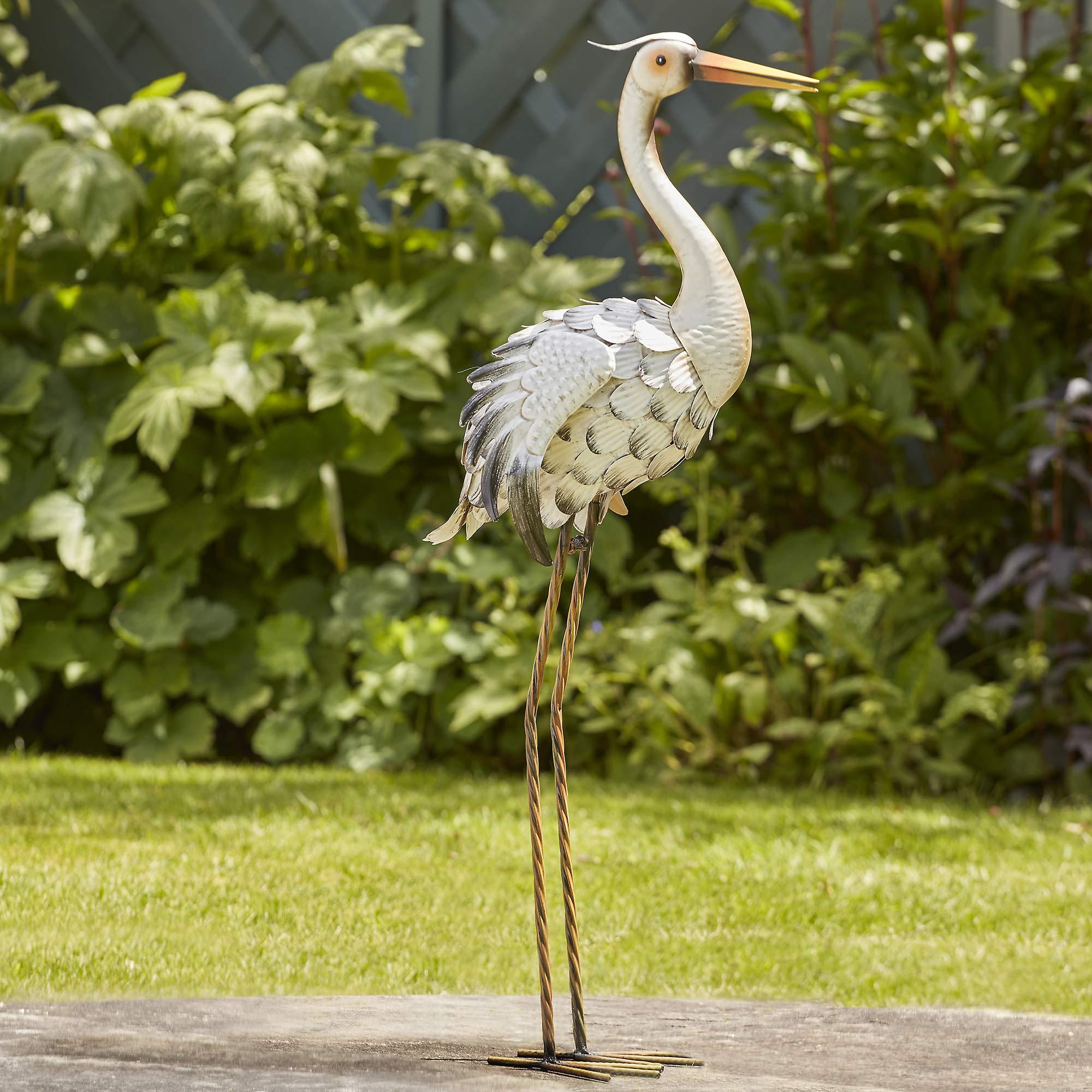 Iron Heron Outdoor Garden /& Patio Water Feature Ideal Outdoor Decor Idea