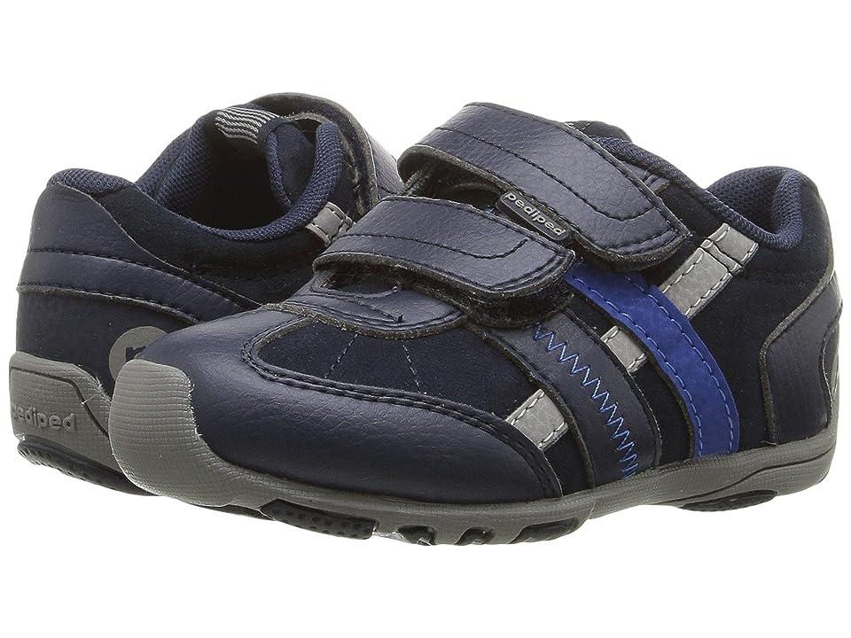 pediped Gehrig Flex (Toddler/Little Kid) (Navy/Grey) Boys Shoes