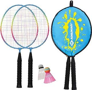 comprar comparacion Schildkröt Set de Badminton Junior, 2 Raquetas Cortas 45,5 cm, 2 Volantes, en una Funda 3/4, 970901