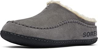 SOREL - Men's Falcon Ridge II House Slippers with Suede Upper and Wool/Polyester Lining, Quarry/Black, 11 M US