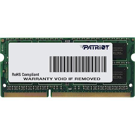 Patriot Memory DDR3 1600MHz 8GB PC3-12800 CL11 SODIMM ノートパソコン用メモリ 低電圧 1.35V - PSD38G1600L2S