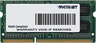 Patriot Signature Line 1.35V 8GB DDR3 1600MHz PC3-12800 CL11 SODIMM Low Voltage Memory PSD38G1600L2S
