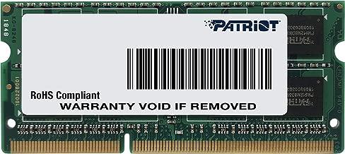 Patriot 1.35V 8GB DDR3 1600MHz PC3-12800 CL11 SODIMM Memory PSD38G1600L2S
