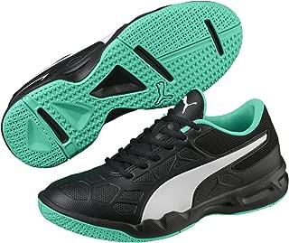 Puma Unisex Kid's Tenaz Jr Black White-Biscay Gr Indoor Multisport Court Shoes