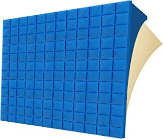 "G-WACK 12 Pack SELF-ADHESIVE Sound Proof Foam Panels, 1.5"" X 12""x 12"", Acoustic Foam Panels,sound Proofing Padding for Wal..."