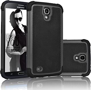 Njjex for Galaxy Mega 6.3 Case, [Nveins] Shock Absorbing Hybrid Dual Layer Rubber Plastic Impact Armor Defender Bumper Rugged Hard Sgell Case Cover for Samsung Mega 6.3 i9200/i9205/i527 [Black]