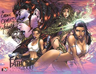 Sexy Witchblade/Lara Croft Tomb Raider/Fathom Comic Shop 34 by 22