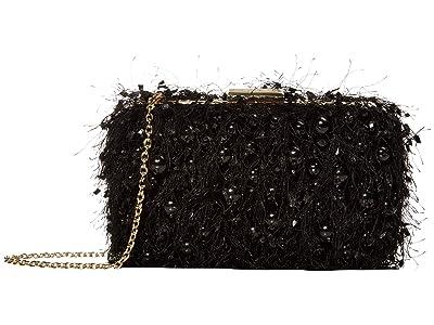 LOVE Moschino All That Love Evening Bag (Black Fabric) Handbags