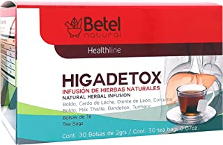 Higadetox Tea by Betel Natural - Healthy Liver Detox - 30 Tea Bags
