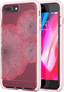 tech21 - Phone Case Compatible with Apple iPhone 8 Plus/iPhone 7 Plus - Evo Check Evoke Edition - Clear/Blue