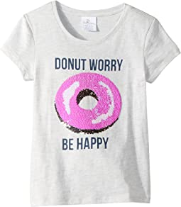 Magic Two-Way Sequins Be Happy T-Shirt (Toddler/Little Kids/Big Kids)