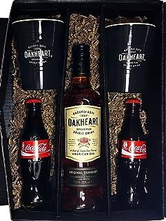 Bacardi Geschenkset - Bacardi Oakheart Spiced Rum 70cl 35% Vol  2x Becher  2x Coca Cola je 0,2L