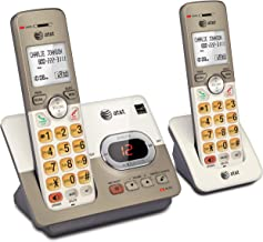 $44 » ATandT EL52213 2-Handset Expandable Cordless Phone with Answering System and Extra-large Backlit Keys (Renewed)