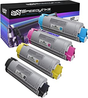 Speedy Inks Compatible Toner Cartridge Replacement for Okidata Type C8 (1 Black, 1 Cyan, 1 Magenta, 1 Yellow, 4-Pack)