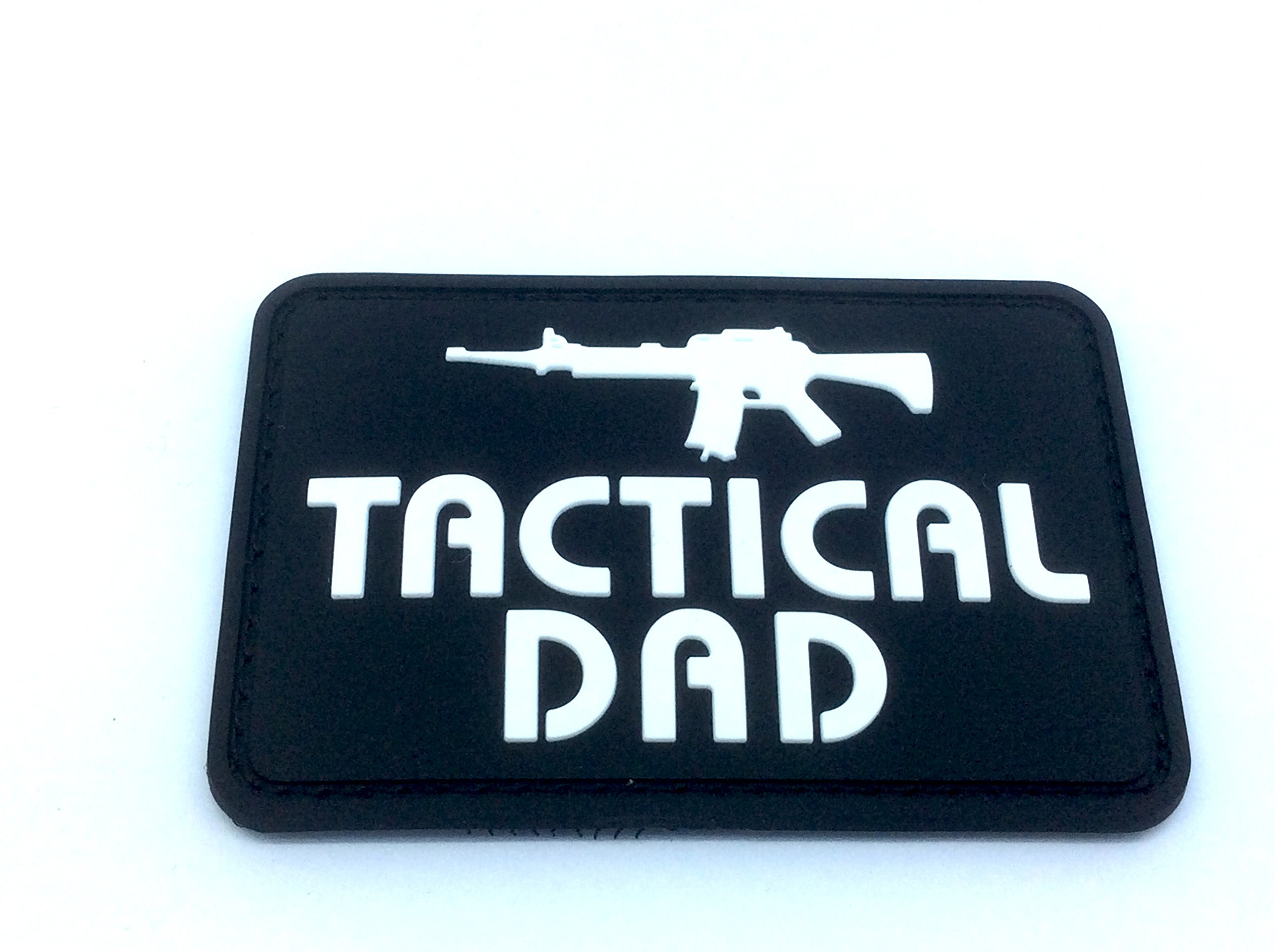 Tactical Dad negro PVC Airsoft Paintball moral parche: Amazon.es: Deportes y aire libre