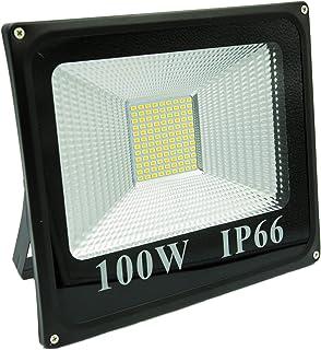 Sister-A 100W LED SMD Flood Light Super Bright Outdoor Work Light 900W Halogen Bulb Equivalent 220V IP66 Waterproof 9000lm...
