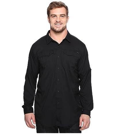 Columbia Big and Tall Silver Ridge Lite Long Sleeve Shirt (Black) Men