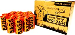 Earth Friendly Super Sturdy Dog Waste Bags, Primal Poop Bags Extra Strong Leak-Proof Doggie Poop Bags Rolling Cores for Waste Dog Bags Dispensers