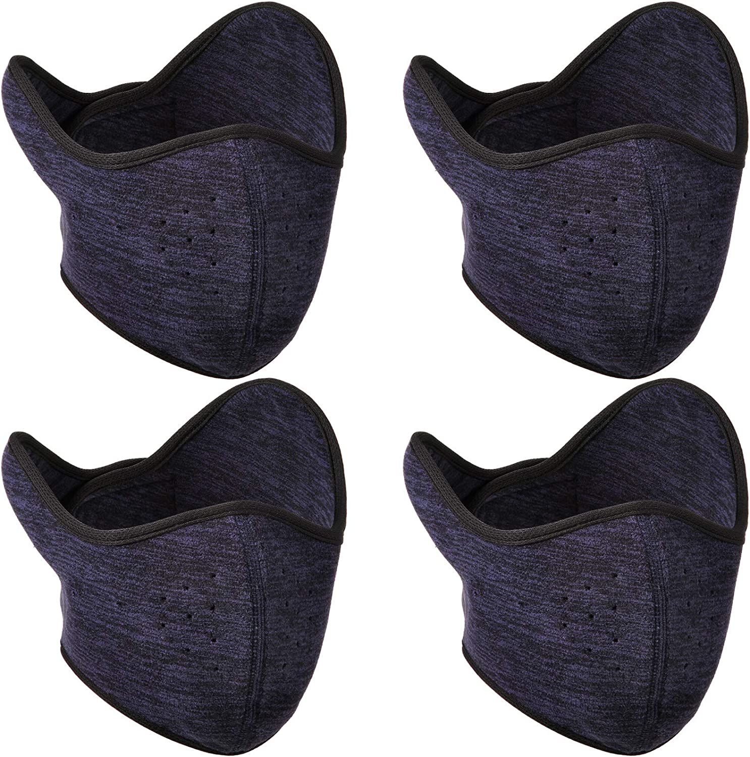 4 Pieces Earflap Half Face Covering Winter Ski Face Covering Windproof Half Balaclava for Outdoor Sports