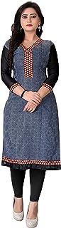 Dharmi Trendz Women's Cotton Semi-stitched Salwar Suit (1004_Pink_Free Size)