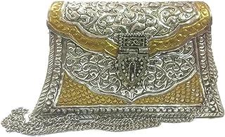 Hand Carving Vintage Brass Purse antique Ethnic Handmade Women metal clutch Bag Hand clutch Handbag for women hand purse