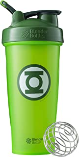 BlenderBottle Justice League Superhero Classic 28-Ounce Shaker Bottle, Green Lantern