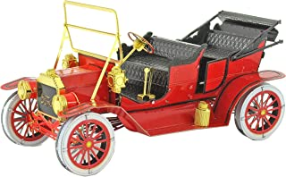 Fascinations Metal Earth Red Ford 1908 Model T 3D Metal Model Kit