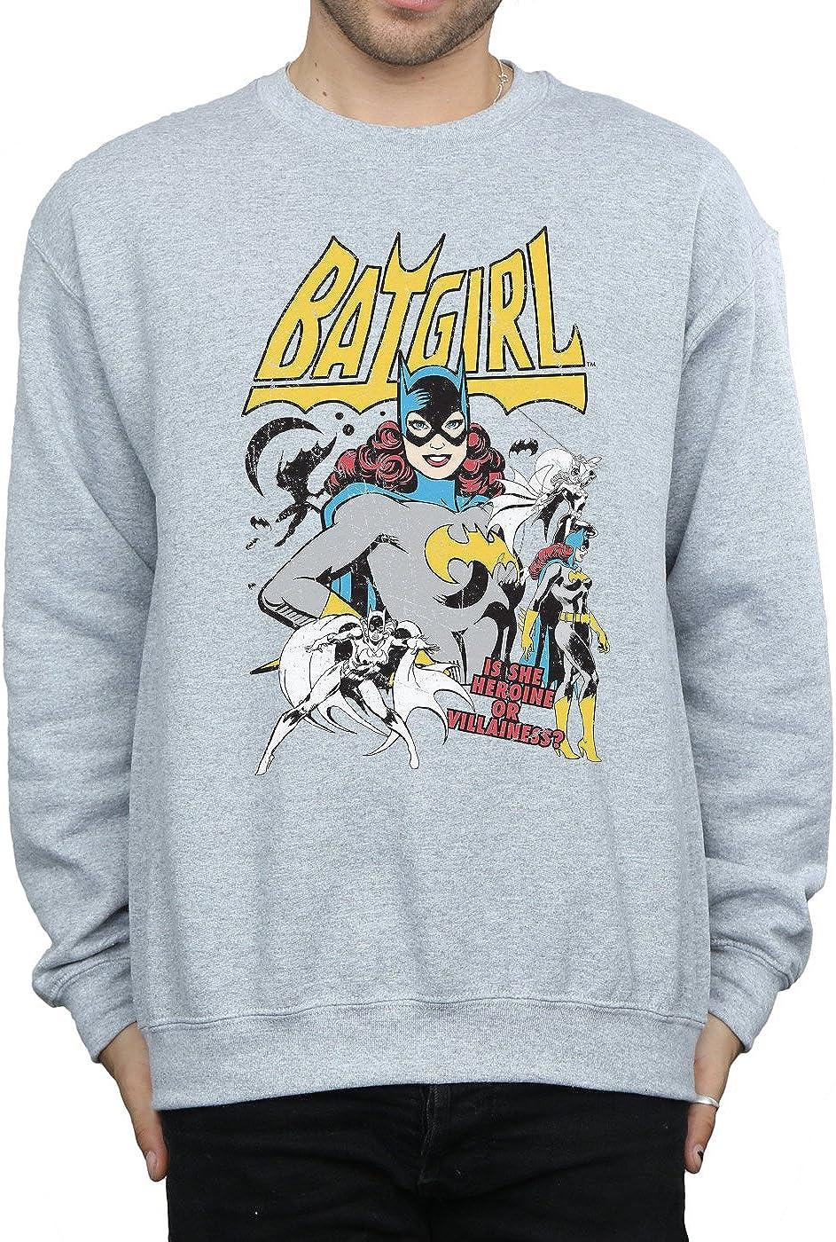 DC Comic Homme Batgirl Heroine Or Villainess Sweat-Shirt Sport Gris