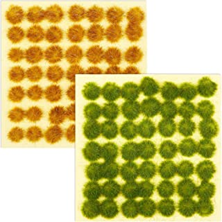 Blulu 98 Pieces Static Grass Tuft 3 mm Self Adhesive Static Grass Railway Artificial Grass Modeling Wargaming Terrain Mode...