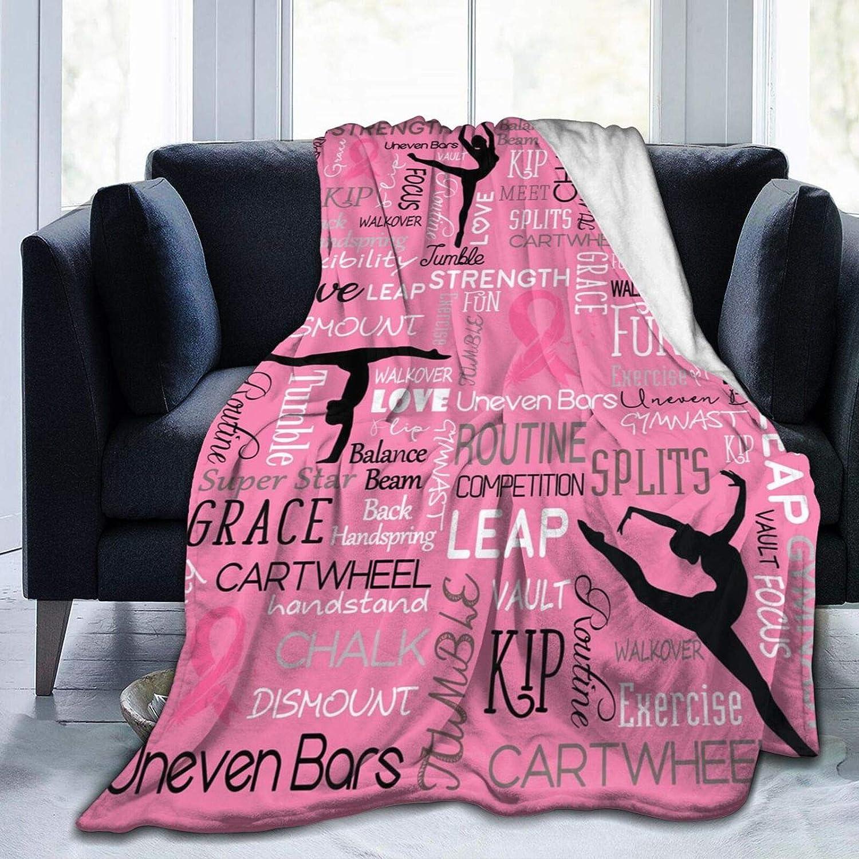 Gymnastics Dance Fight Breast Cancer Throw Fleece 今だけスーパーセール限定 正規店 Plush Blanket