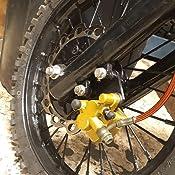 WOOSTAR Universal Hydraulic Brake Caliper Replacement for 150cc 200cc 250cc 300cc Kawasaki Honda Yamaha Pocket Bike Dirt Pit Bike Scooter Yellow